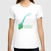 norway T-shirts featuring Norway by Stephanie Wittenburg