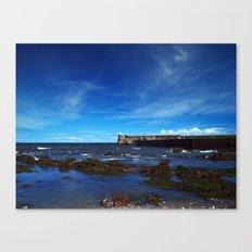 Burnmouth Harbour Canvas Print