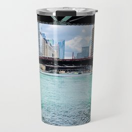 Chicago River under the bridges Travel Mug