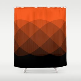 Orange to Black Ombre Signal Shower Curtain