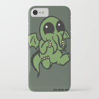 cthulu iPhone & iPod Cases featuring Cute Cthulu  by Nikki Hung