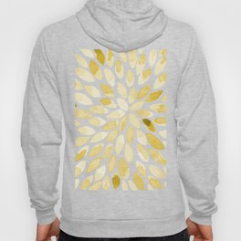 Watercolor brush strokes - yellow Hoody