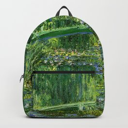 Water Lilies and the Japanese bridge Backpack