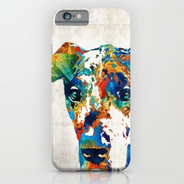 Colorful Great Dane Art Dog By Sharon Cummings iPhone Case