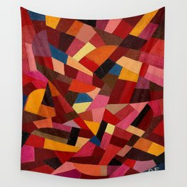 Komposition 1940 Mid Century Modern Abstract Geometric Colorful Pattern Painting Otto Freundlich Wall Tapestry