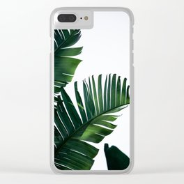 Palm Leaves 16 Clear iPhone Case