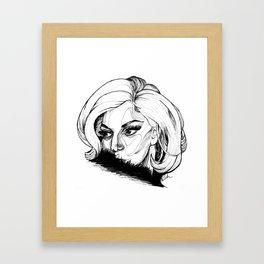 lady 2 Framed Art Print