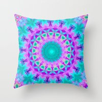 kaleidoscope Throw Pillows featuring Kaleidoscope by Sylvia Cook Photography