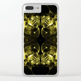 Yellow Pattern Clear iPhone Case