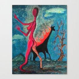 The Burning Giraffe Canvas Print