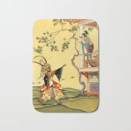 "Folk tale ""1001 Nights"" by Virginia Sterrett Bath Mat"