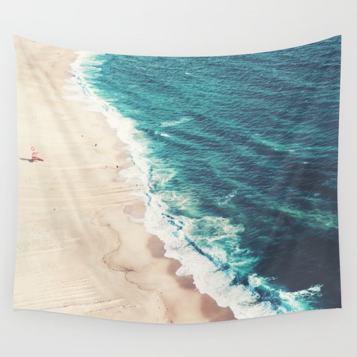 Beach Nazare Wall Tapestry