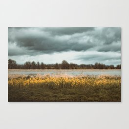 Tasting you in rain Canvas Print