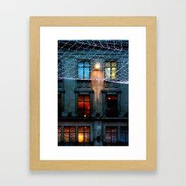 London: Street Lights During Holidays Framed Art Print
