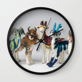 Fantastic Felted Beasts Wall Clock