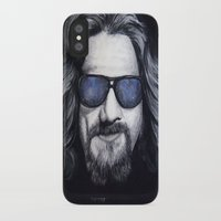 lebowski iPhone & iPod Cases featuring The Dude Lebowski by Black Neon