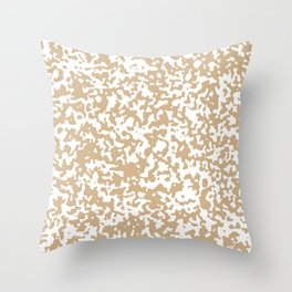 Small Spots - White and Tan Brown Throw Pillow
