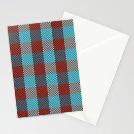 Pixel Plaid - Cranberry Bog Stationery Cards