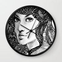 oriental Wall Clocks featuring Oriental by Judy Hung