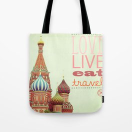 Love, Live, Eat, Travel Tote Bag