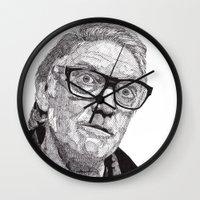 snatch Wall Clocks featuring Alan by Rik Reimert