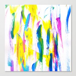 Paint Smears Colorful Abstract Canvas Print