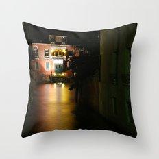 Venice at night Throw Pillow