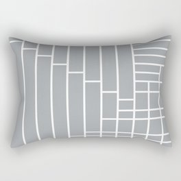 Fuzz Outline Grey Rectangular Pillow