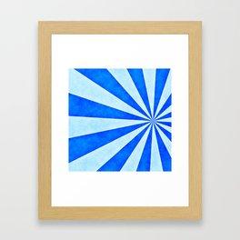 Blue sunburst Framed Art Print