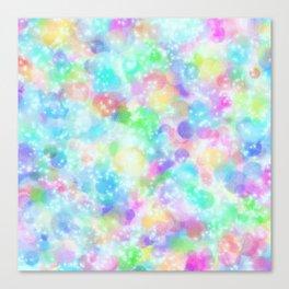 Rainbow Bubbles, Shining Stars and Color Magic Canvas Print