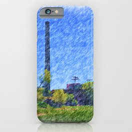 Old time Factory iPhone Case