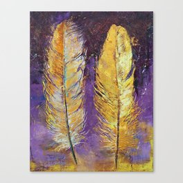 Gold Feathers Canvas Print