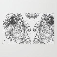 astro Traveller Retro Rug