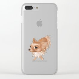 Suspicious Chihuahua Clear iPhone Case