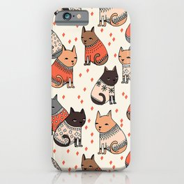 Sweater Cats - by Andrea Lauren iPhone Case