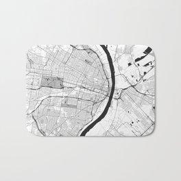 St. Louis Map Gray Bath Mat