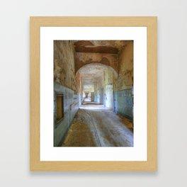 Beelitz Heilstaetten hallway, Lost Places Framed Art Print
