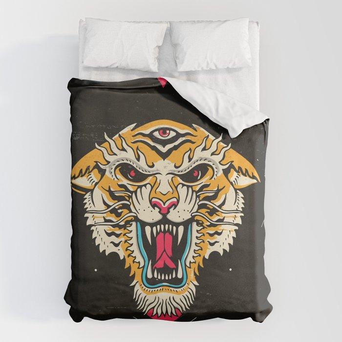 Tiger 3 Eyes Bettbezug