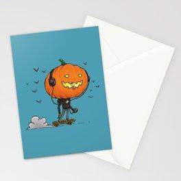 The Skater Pumpkin Stationery Cards