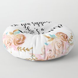 Blush and gold wildflower Floor Pillow