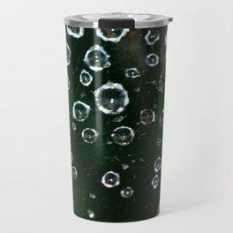 Spiderweb Water Droplets  Travel Mug