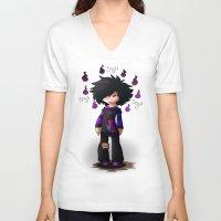 nemo V-neck T-shirts featuring Nemo The Emo by Razinoats