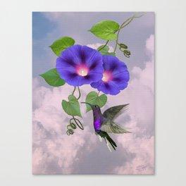 Hummingbird and Morning Glory Canvas Print