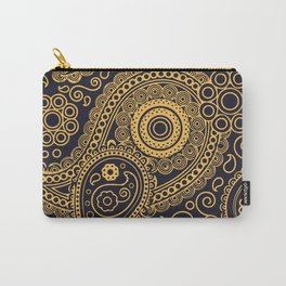Vintage Pattern Gold Carry-All Pouch