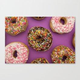 Sprinkle Donuts Canvas Print