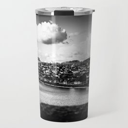 Cityscape Möhne From Reservoir Barrage Wall bw Travel Mug