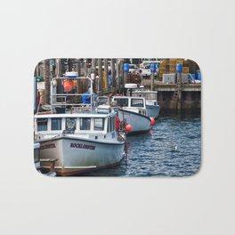 New England Fishing Wharf Bath Mat