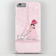 Paris Girl & Poodle Eiffle Tower iPhone 6 Plus Slim Case
