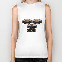 sushi Biker Tanks featuring Sushi by Sofia Youshi