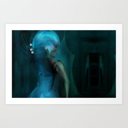 Digital Ball-Room Art Print